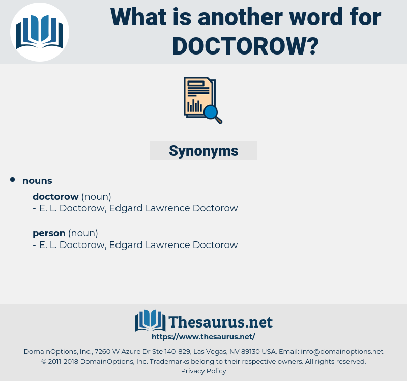 doctorow, synonym doctorow, another word for doctorow, words like doctorow, thesaurus doctorow