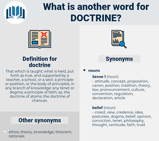 doctrine, synonym doctrine, another word for doctrine, words like doctrine, thesaurus doctrine