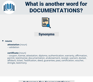 documentations, synonym documentations, another word for documentations, words like documentations, thesaurus documentations