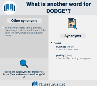 dodge, synonym dodge, another word for dodge, words like dodge, thesaurus dodge