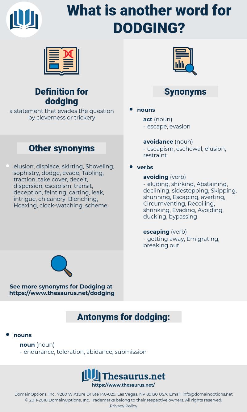 dodging, synonym dodging, another word for dodging, words like dodging, thesaurus dodging