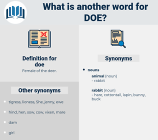 doe, synonym doe, another word for doe, words like doe, thesaurus doe