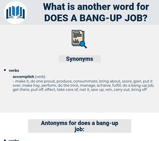 does a bang-up job, synonym does a bang-up job, another word for does a bang-up job, words like does a bang-up job, thesaurus does a bang-up job