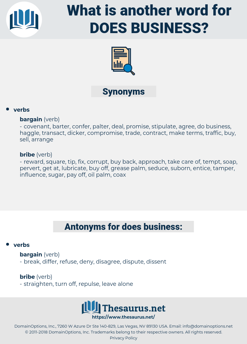 does business, synonym does business, another word for does business, words like does business, thesaurus does business