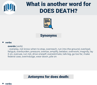 does death, synonym does death, another word for does death, words like does death, thesaurus does death