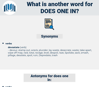 does one in, synonym does one in, another word for does one in, words like does one in, thesaurus does one in