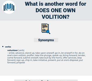 does one own volition, synonym does one own volition, another word for does one own volition, words like does one own volition, thesaurus does one own volition