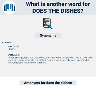 does the dishes, synonym does the dishes, another word for does the dishes, words like does the dishes, thesaurus does the dishes