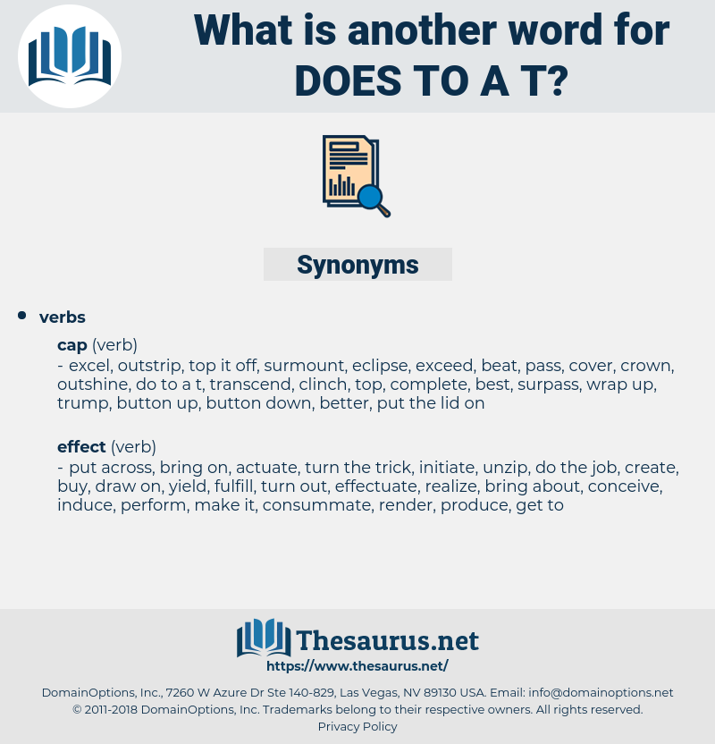 does to a t, synonym does to a t, another word for does to a t, words like does to a t, thesaurus does to a t