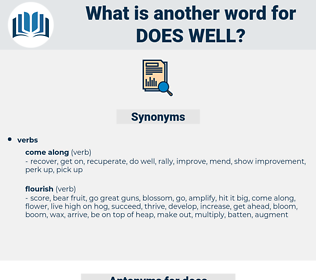 does well, synonym does well, another word for does well, words like does well, thesaurus does well