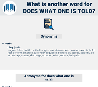 does what one is told, synonym does what one is told, another word for does what one is told, words like does what one is told, thesaurus does what one is told