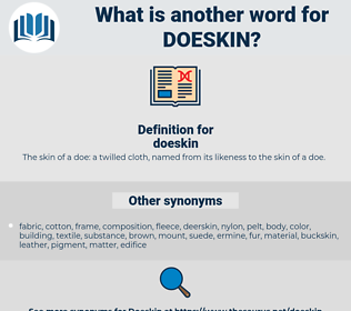doeskin, synonym doeskin, another word for doeskin, words like doeskin, thesaurus doeskin