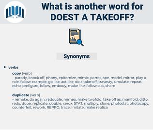 doest a takeoff, synonym doest a takeoff, another word for doest a takeoff, words like doest a takeoff, thesaurus doest a takeoff