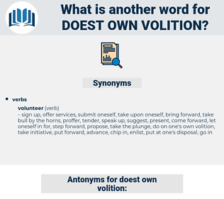 doest own volition, synonym doest own volition, another word for doest own volition, words like doest own volition, thesaurus doest own volition