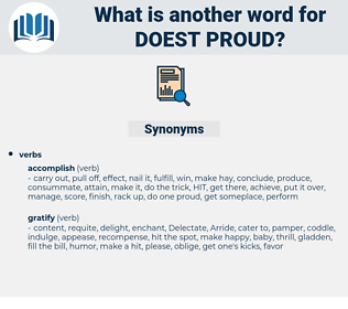 doest proud, synonym doest proud, another word for doest proud, words like doest proud, thesaurus doest proud