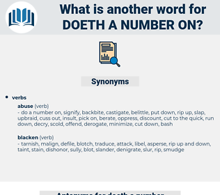 doeth a number on, synonym doeth a number on, another word for doeth a number on, words like doeth a number on, thesaurus doeth a number on