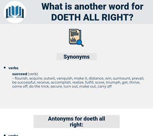 doeth all right, synonym doeth all right, another word for doeth all right, words like doeth all right, thesaurus doeth all right