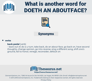 doeth an aboutface, synonym doeth an aboutface, another word for doeth an aboutface, words like doeth an aboutface, thesaurus doeth an aboutface