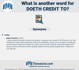 doeth credit to, synonym doeth credit to, another word for doeth credit to, words like doeth credit to, thesaurus doeth credit to