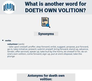 doeth own volition, synonym doeth own volition, another word for doeth own volition, words like doeth own volition, thesaurus doeth own volition