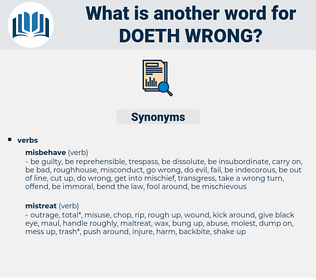 doeth wrong, synonym doeth wrong, another word for doeth wrong, words like doeth wrong, thesaurus doeth wrong