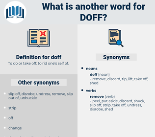 doff, synonym doff, another word for doff, words like doff, thesaurus doff