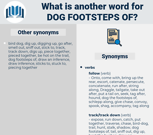 dog footsteps of, synonym dog footsteps of, another word for dog footsteps of, words like dog footsteps of, thesaurus dog footsteps of