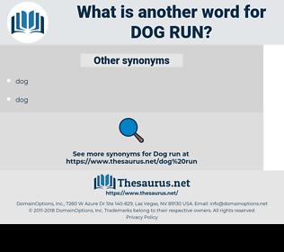 dog run, synonym dog run, another word for dog run, words like dog run, thesaurus dog run