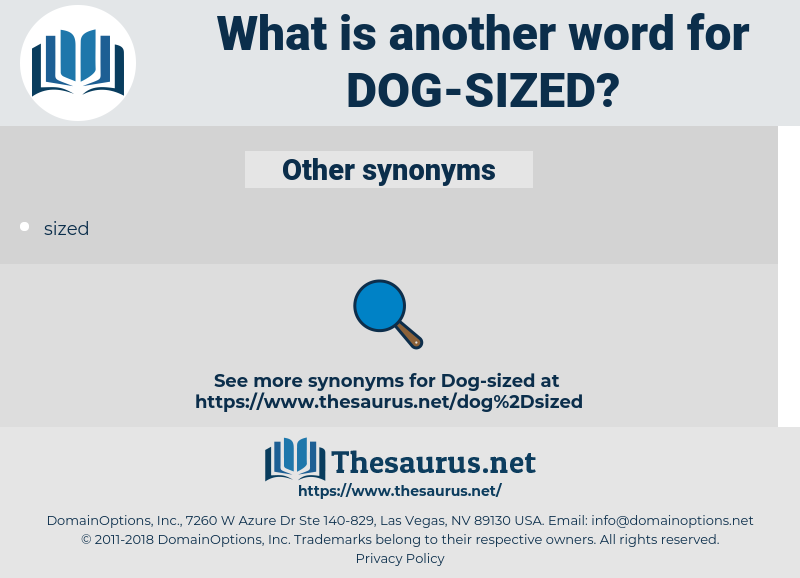 dog-sized, synonym dog-sized, another word for dog-sized, words like dog-sized, thesaurus dog-sized