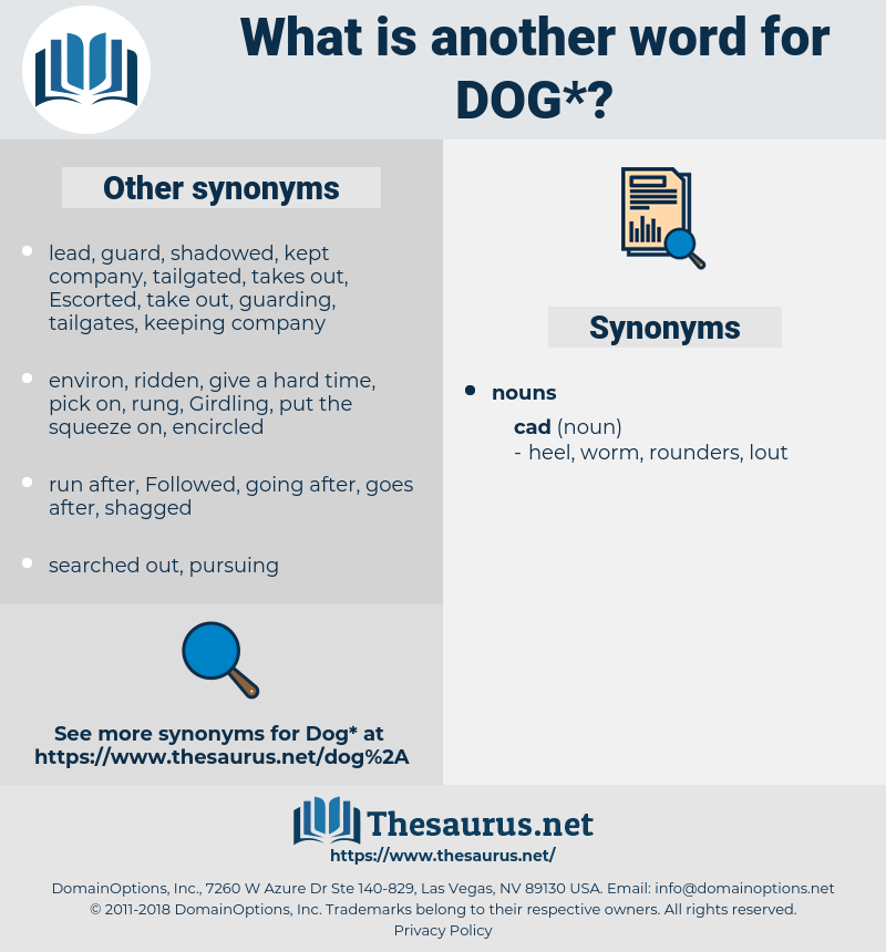 dog, synonym dog, another word for dog, words like dog, thesaurus dog