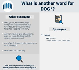 dog, synonym dog, another word for dog, words like dog, thesaurus dog