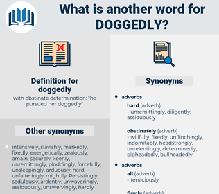 doggedly, synonym doggedly, another word for doggedly, words like doggedly, thesaurus doggedly