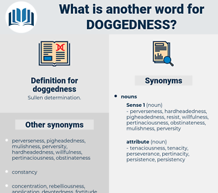 doggedness, synonym doggedness, another word for doggedness, words like doggedness, thesaurus doggedness