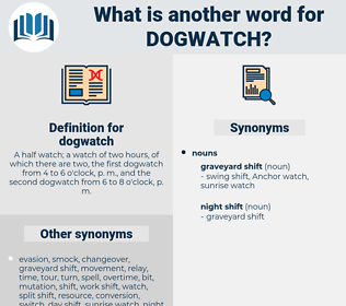 dogwatch, synonym dogwatch, another word for dogwatch, words like dogwatch, thesaurus dogwatch