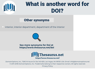 DoI, synonym DoI, another word for DoI, words like DoI, thesaurus DoI