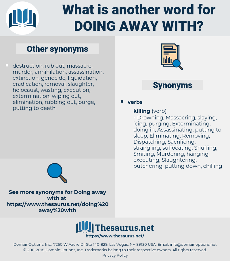 doing away with, synonym doing away with, another word for doing away with, words like doing away with, thesaurus doing away with