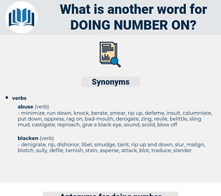 doing number on, synonym doing number on, another word for doing number on, words like doing number on, thesaurus doing number on