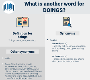 doings, synonym doings, another word for doings, words like doings, thesaurus doings
