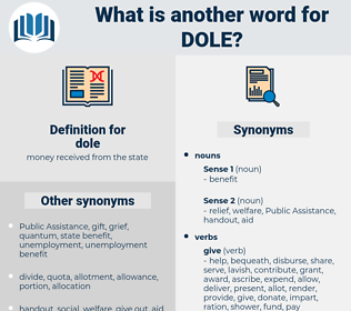 dole, synonym dole, another word for dole, words like dole, thesaurus dole
