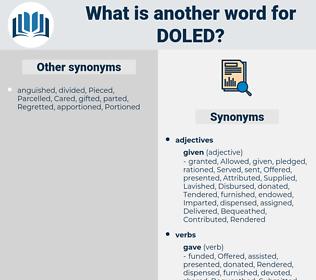 Doled, synonym Doled, another word for Doled, words like Doled, thesaurus Doled
