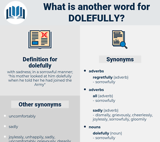 dolefully, synonym dolefully, another word for dolefully, words like dolefully, thesaurus dolefully