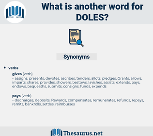 doles, synonym doles, another word for doles, words like doles, thesaurus doles