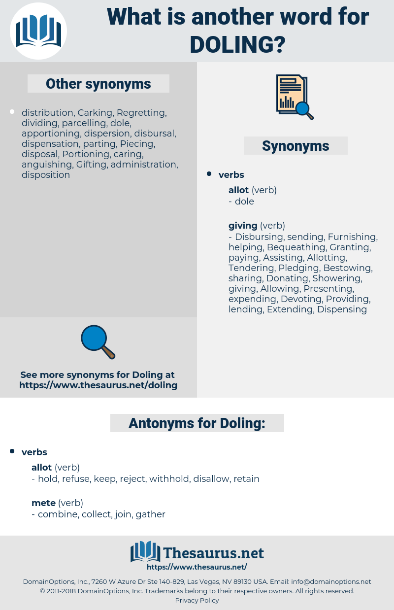 Doling, synonym Doling, another word for Doling, words like Doling, thesaurus Doling