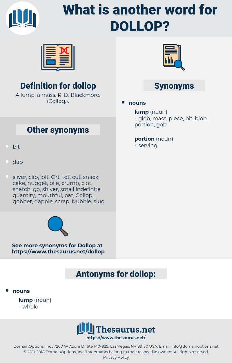 dollop, synonym dollop, another word for dollop, words like dollop, thesaurus dollop