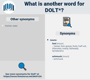 dolt, synonym dolt, another word for dolt, words like dolt, thesaurus dolt