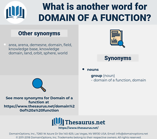 domain of a function, synonym domain of a function, another word for domain of a function, words like domain of a function, thesaurus domain of a function