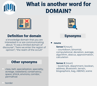 domain, synonym domain, another word for domain, words like domain, thesaurus domain