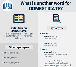 domesticate, synonym domesticate, another word for domesticate, words like domesticate, thesaurus domesticate