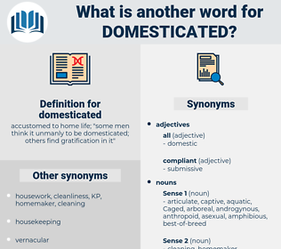 domesticated, synonym domesticated, another word for domesticated, words like domesticated, thesaurus domesticated