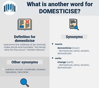 domesticise, synonym domesticise, another word for domesticise, words like domesticise, thesaurus domesticise